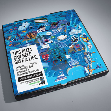 Save NJ Lives custom-designed pizza box