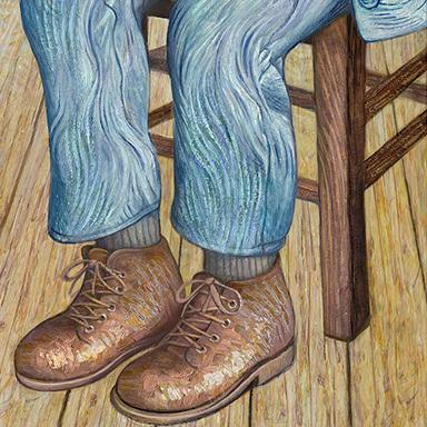 Kiwi Portraits Completed: Van Gogh