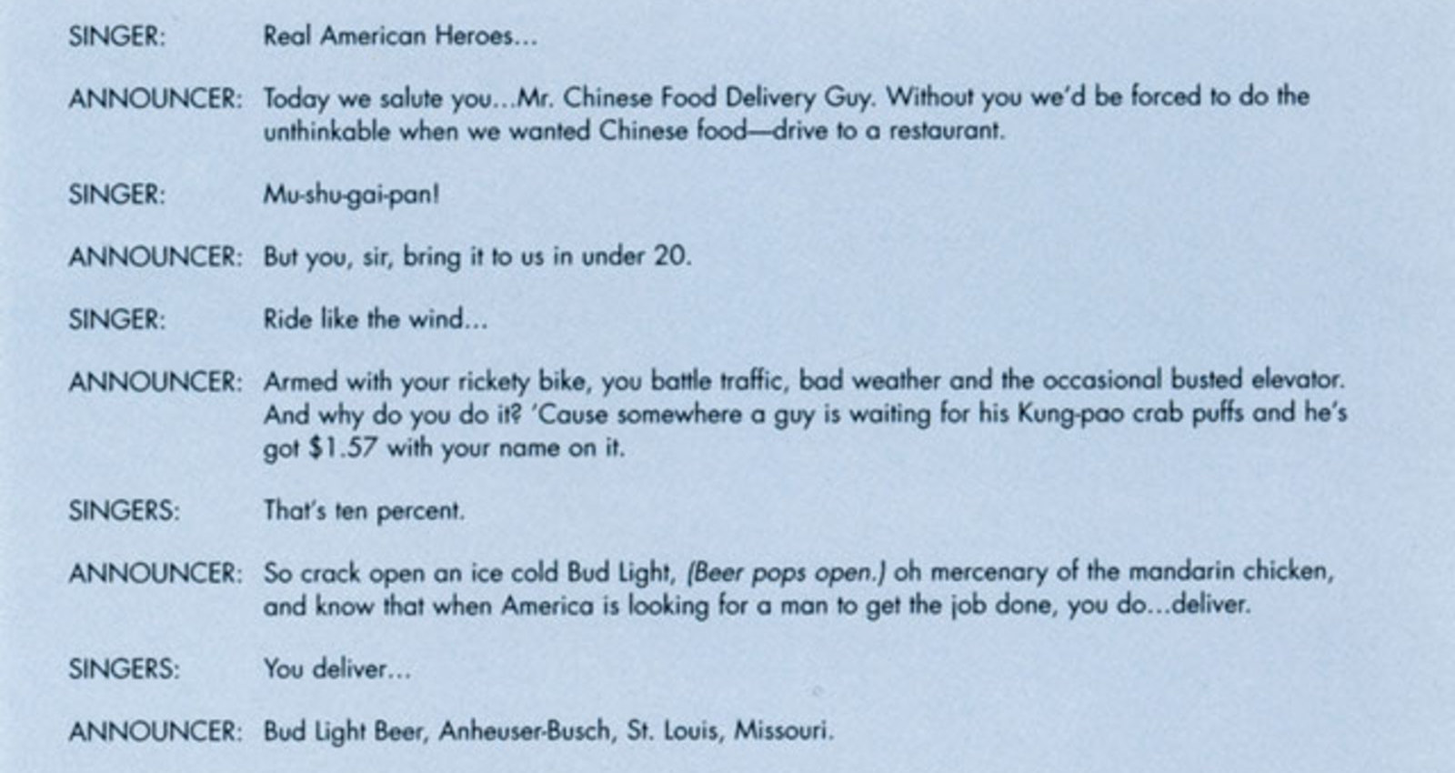 Heroes / Mr. Chinese Food Delivery