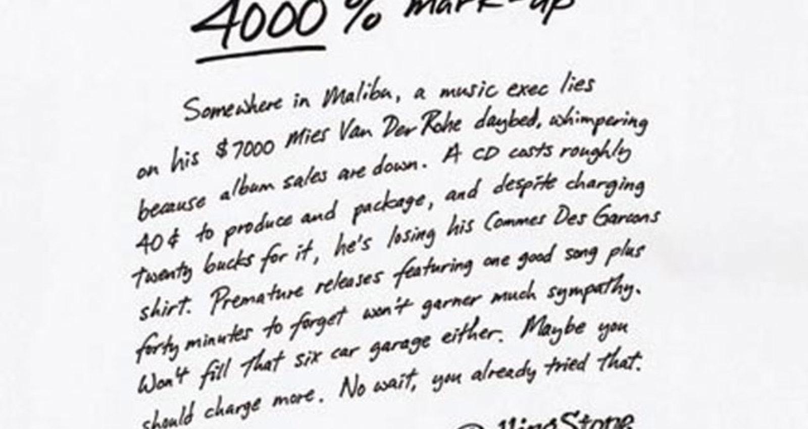 4000% Mark-up
