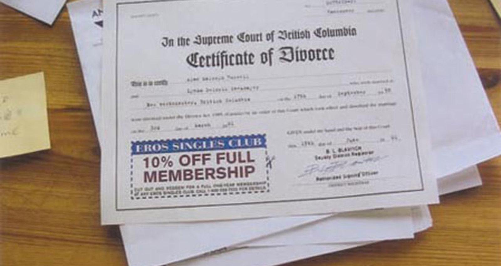 Bible, Toe Tag, Divorce Certificate