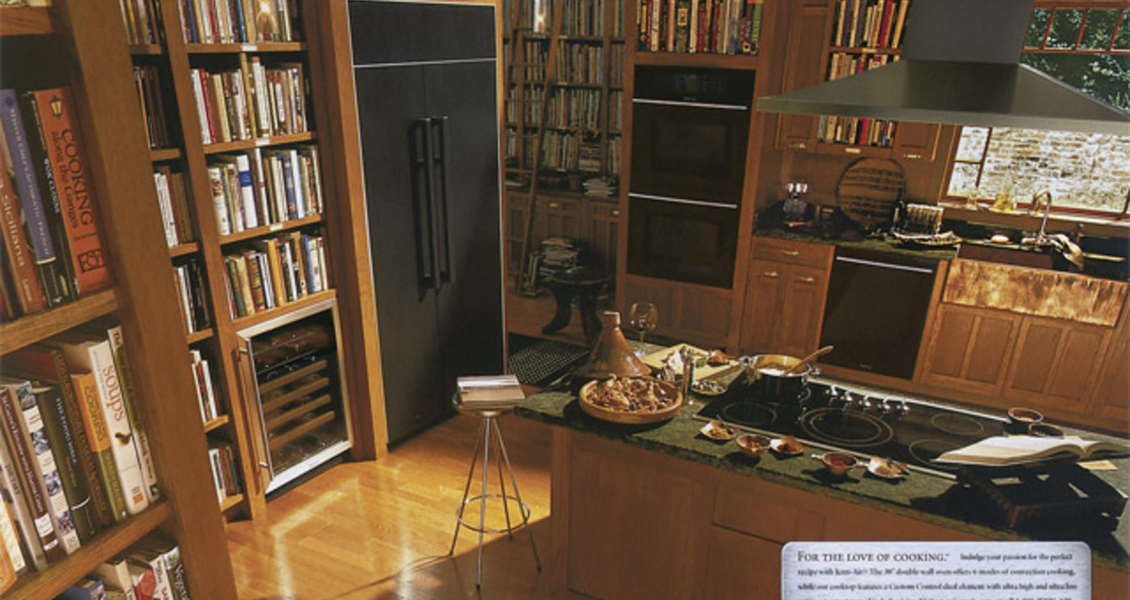 Kitchen, Library, Entertainment Center