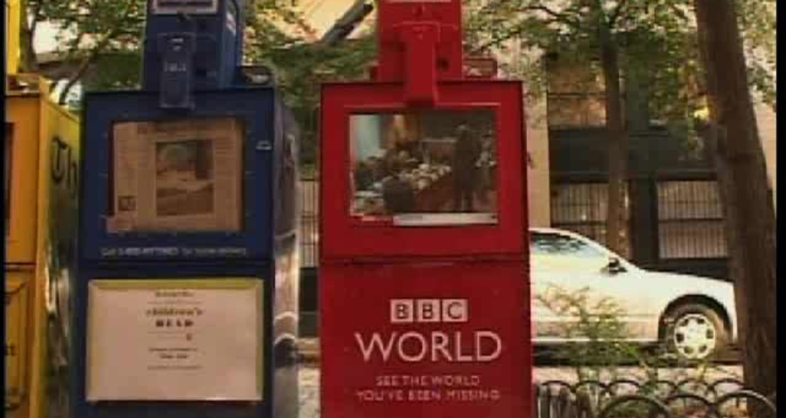 BBC Newspaper Boxes