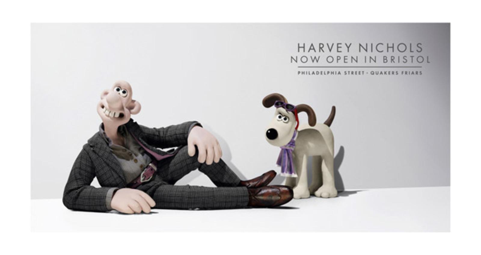 Wallace in Alexander McQueen & Gromit in Paul Smith