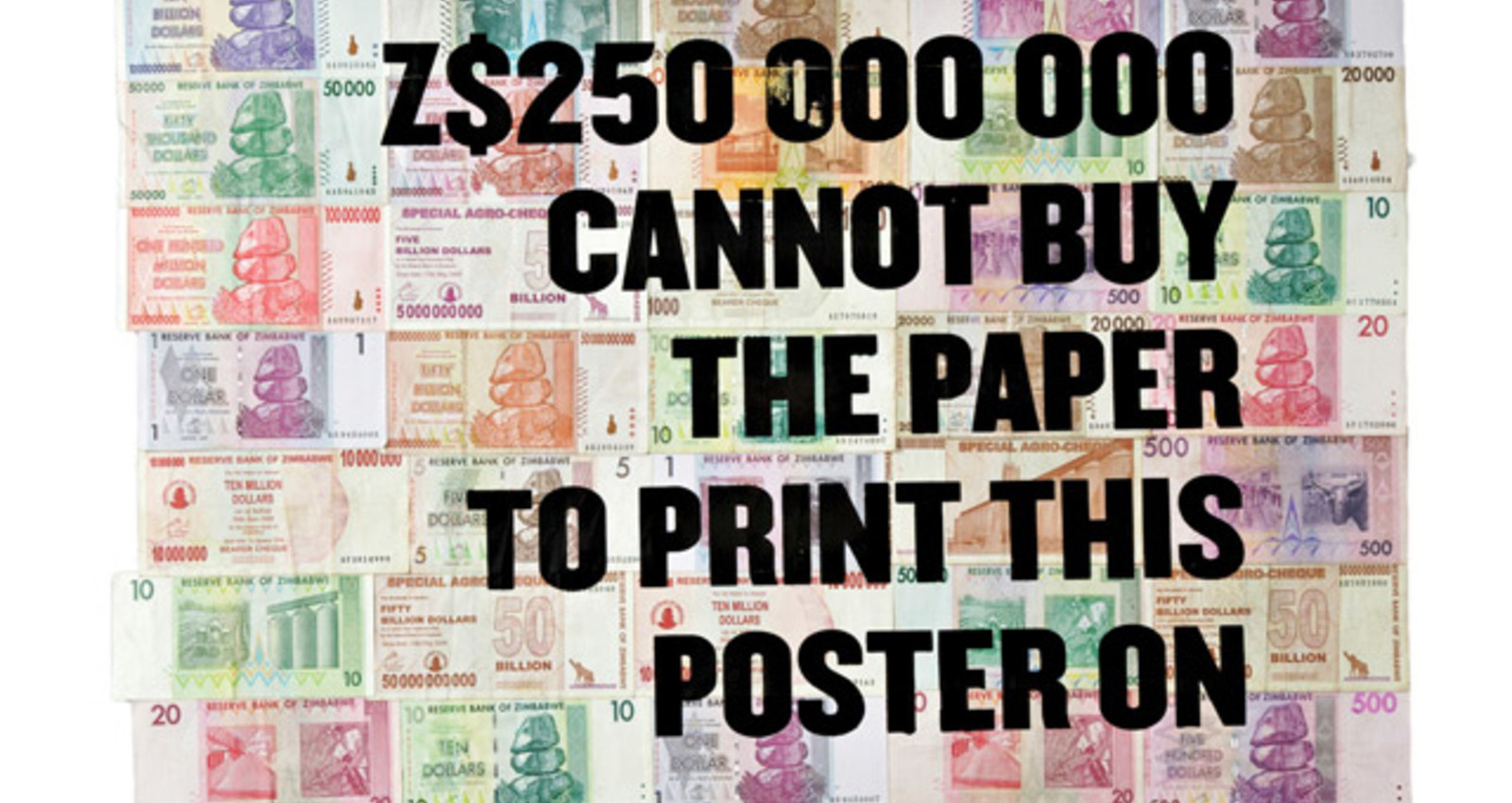 The Trillion Dollar Poster Campaign