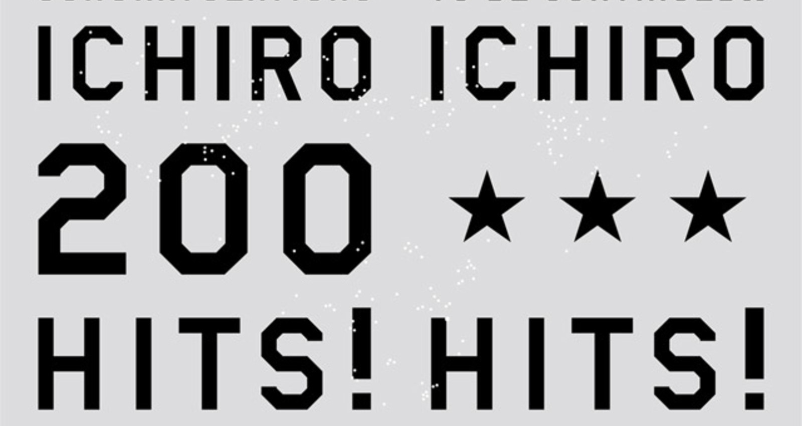 Congratulations ICHIRO