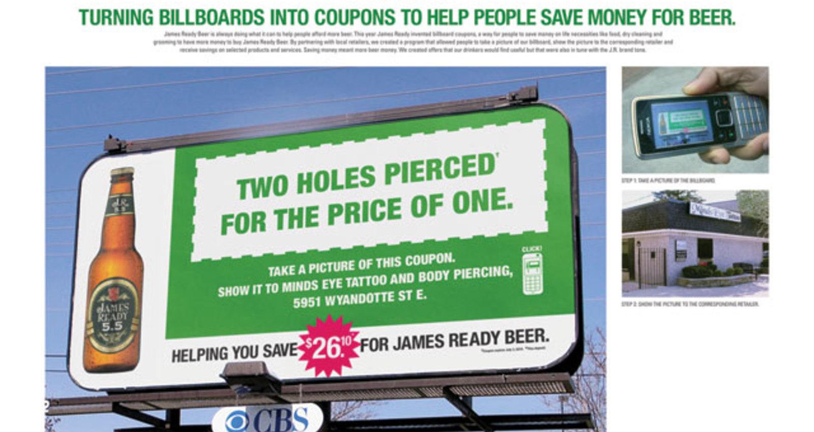 James Ready Coupon Billboard -