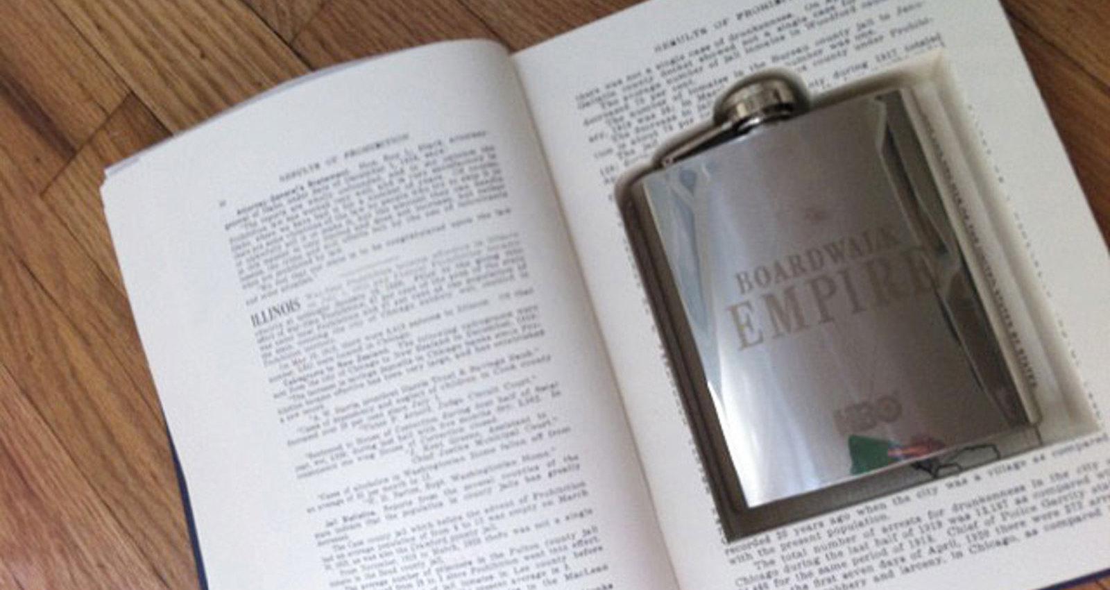 Boardwalk Empire - Book Safe Hip Flask