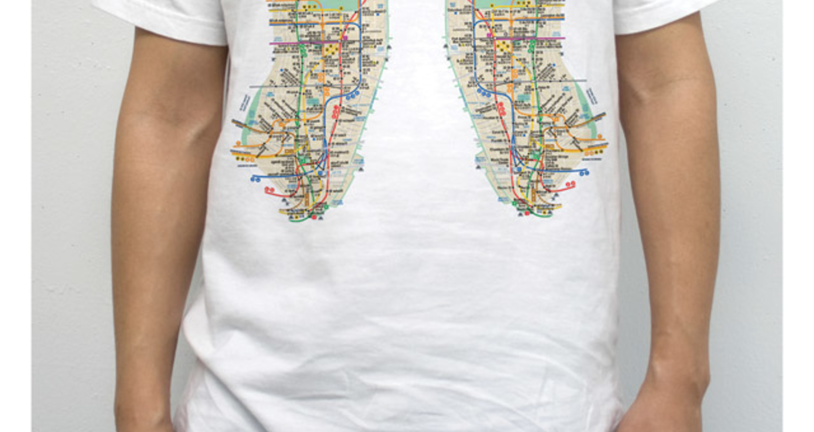 Lung Map Shirts