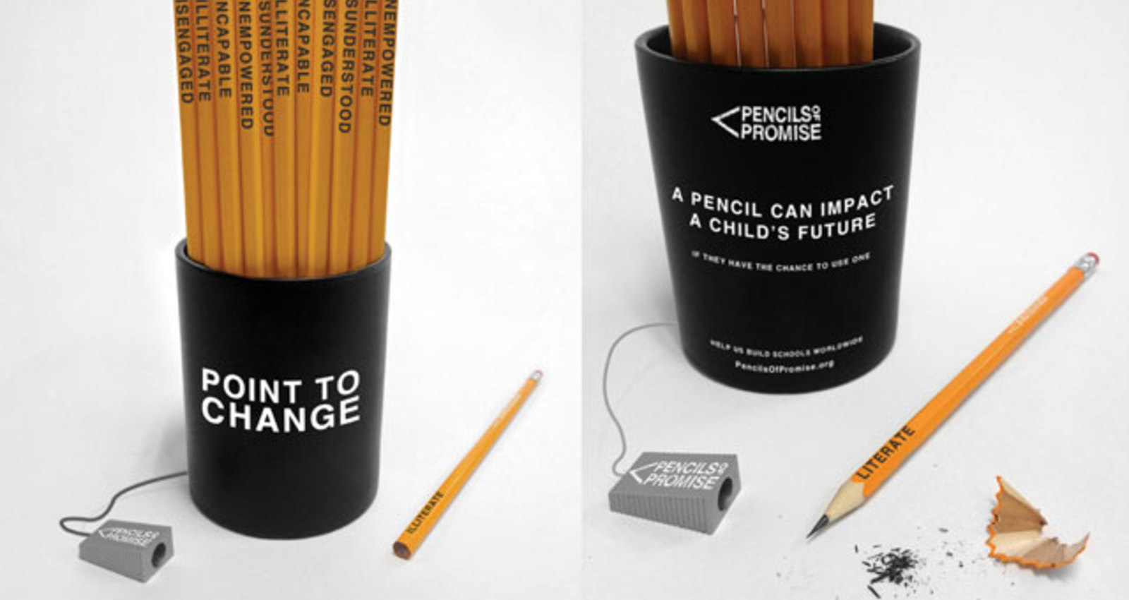 Point to Change Pencil Cup
