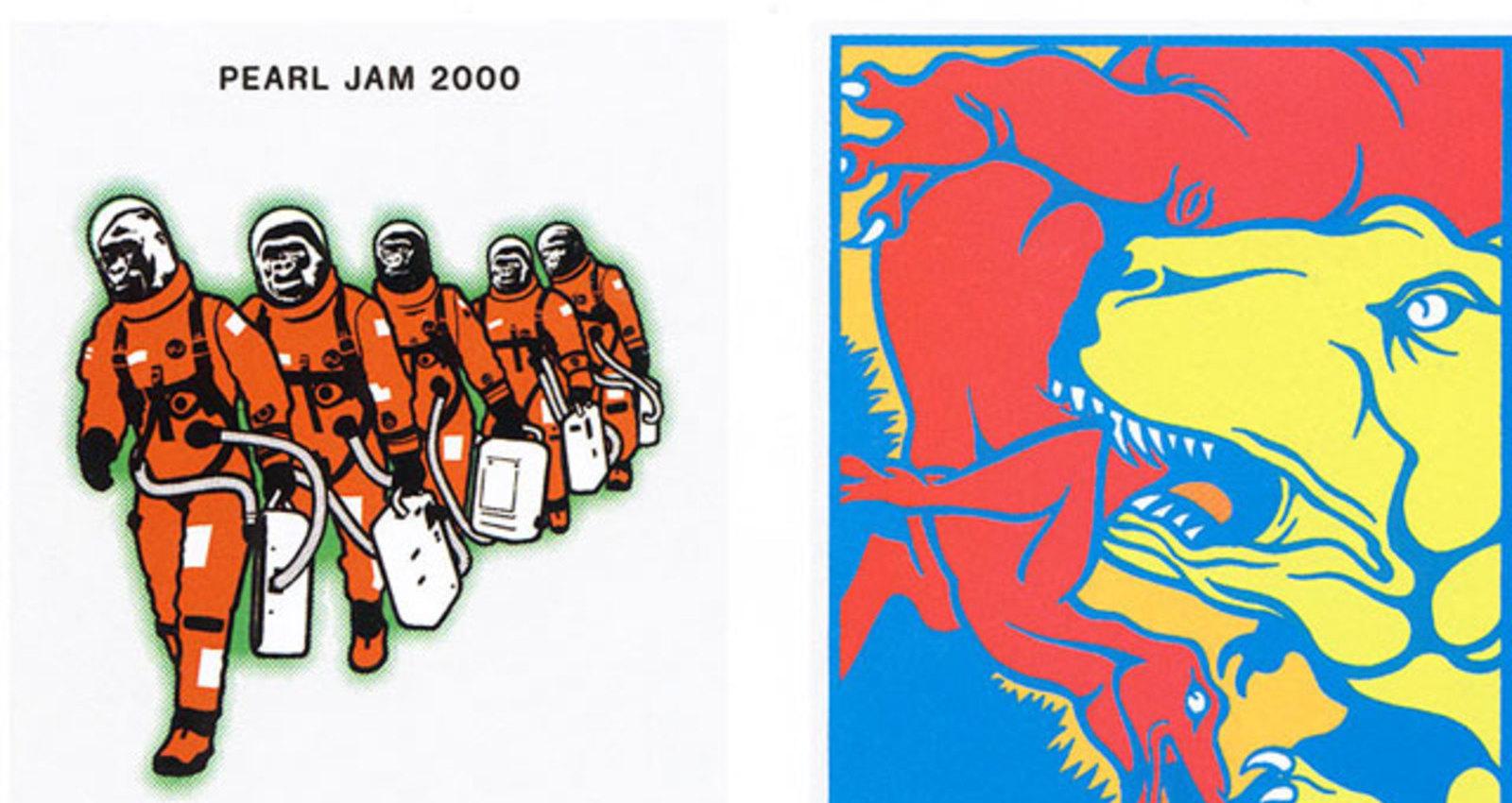 Pearl Jam/Binaural Tour-8 Posters: Virginia Beach, London, Lisbon, Prague, San Francisco, Maastricht, New York, Stockholm