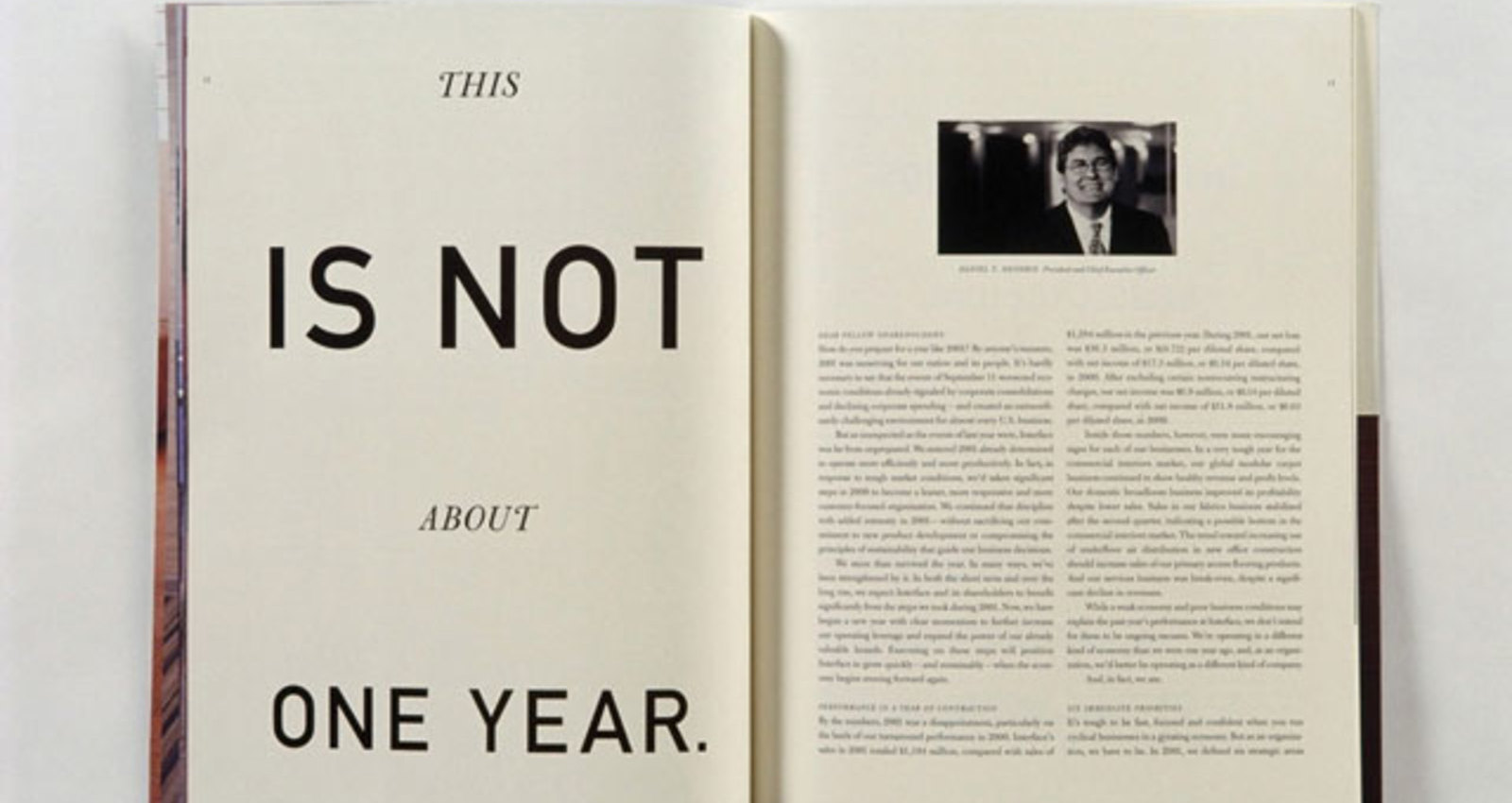 Interface 2001 Annual Report