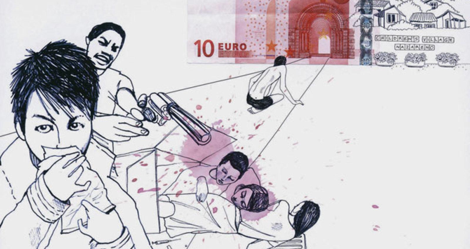 5,- Euro, 10,- Euro, 100,- Euro
