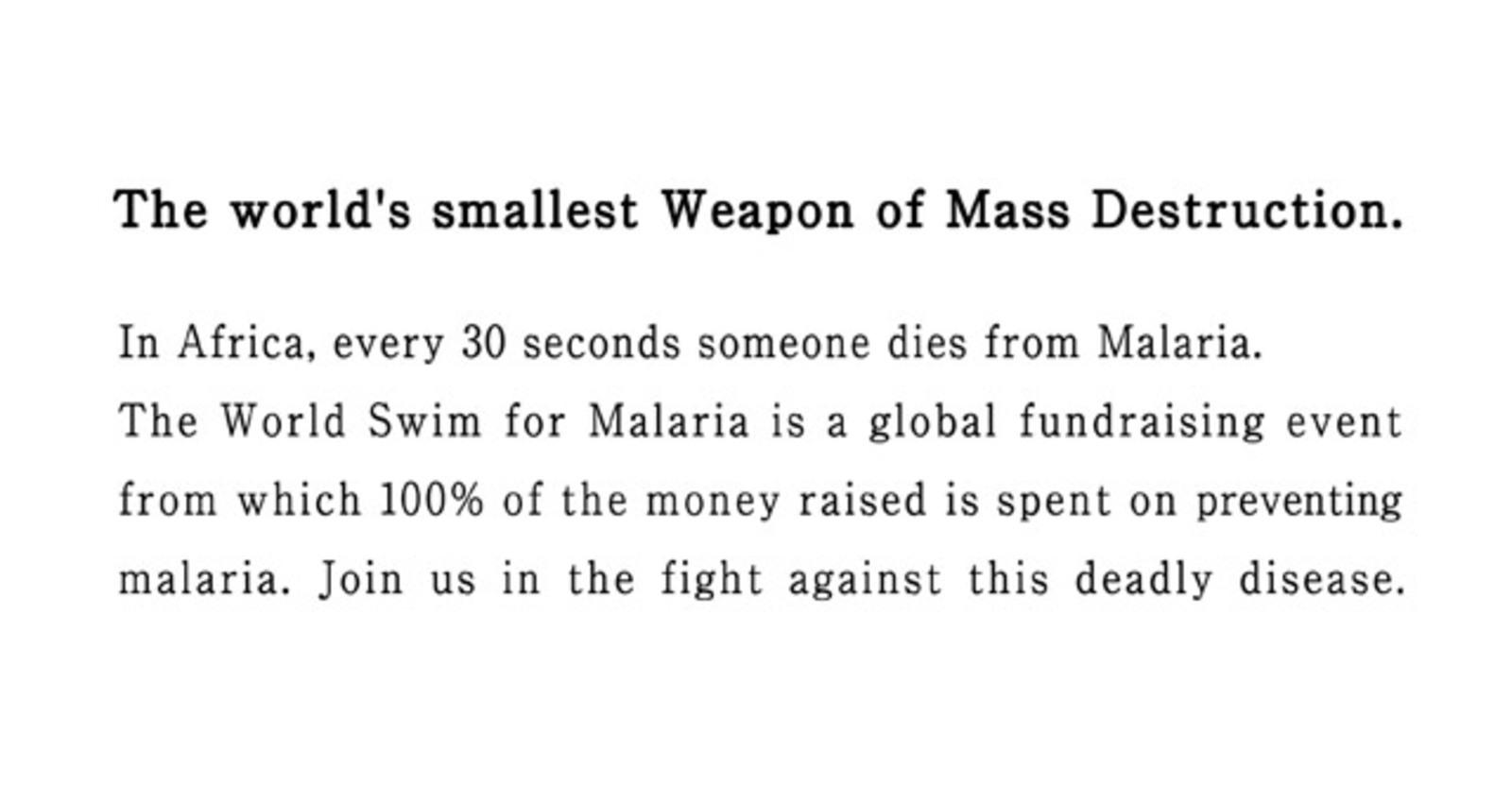 The World's Smallest Weapon of Mass Destruction