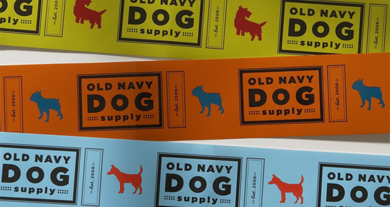Packaging for Old Navy Dog Supply