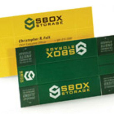 sBox Storage Business Cards