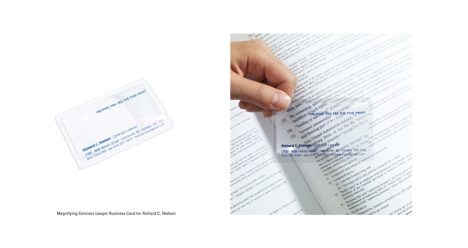 Magnifying Contract Lawyer Business Card