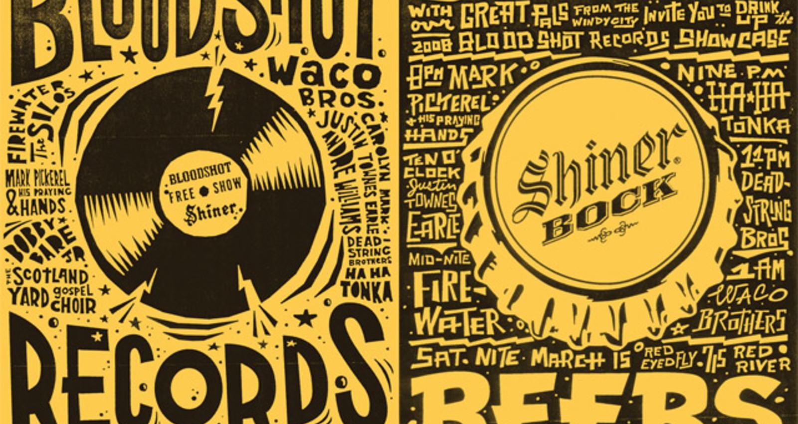 SXSW Bloodshot Records Poster