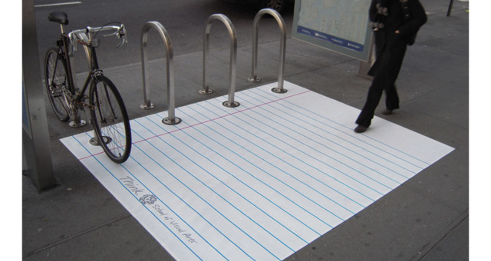 Loose-Leaf Paper Bike-Rack