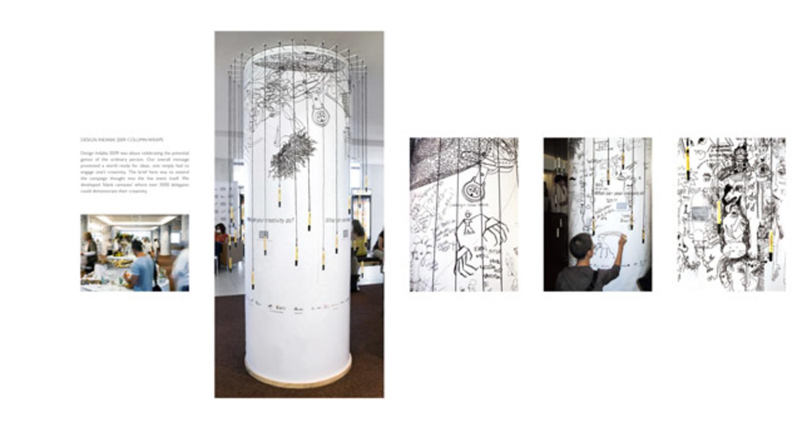 Design Indaba 12 Column Wraps