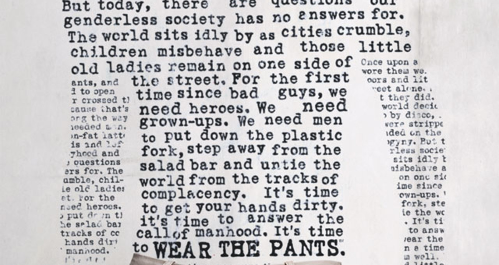 Wear the Pants