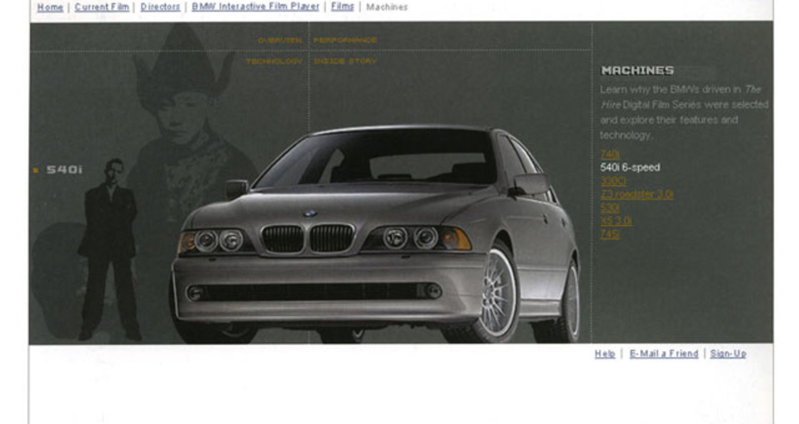 The Hire: BMW Films Web Site