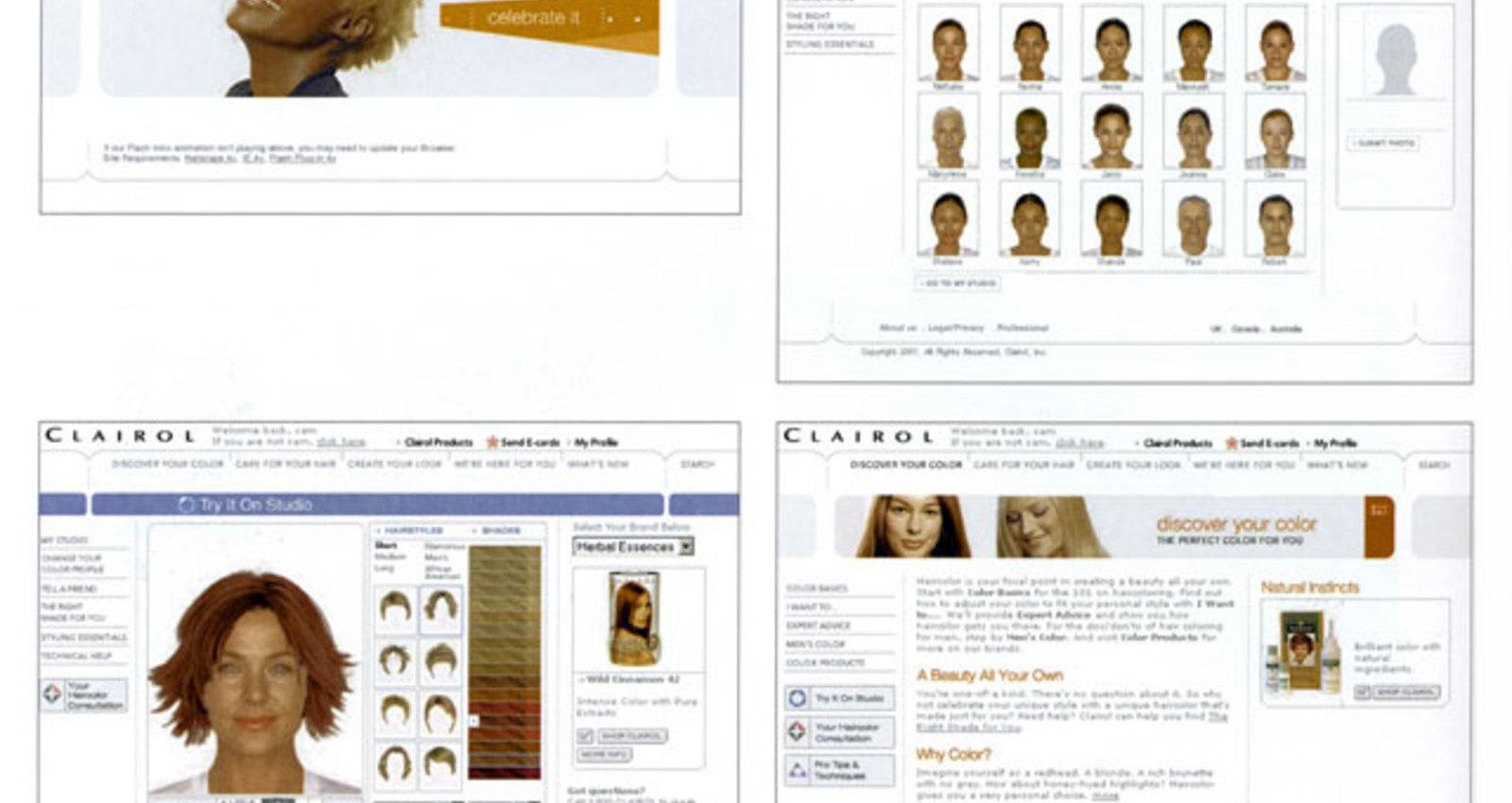 Clairol.com Site Redesign