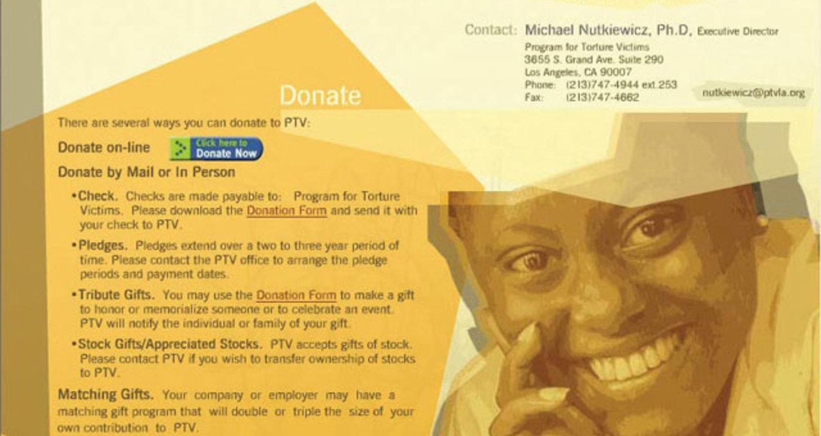 Program For Torture Victims Web site
