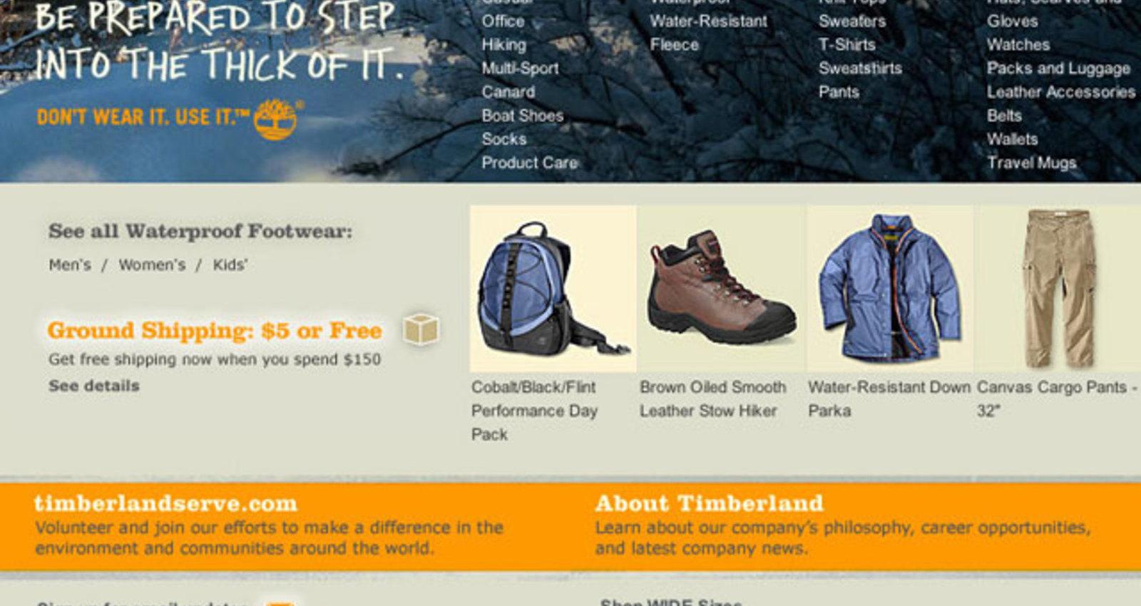 Timberland E-Commerce Website