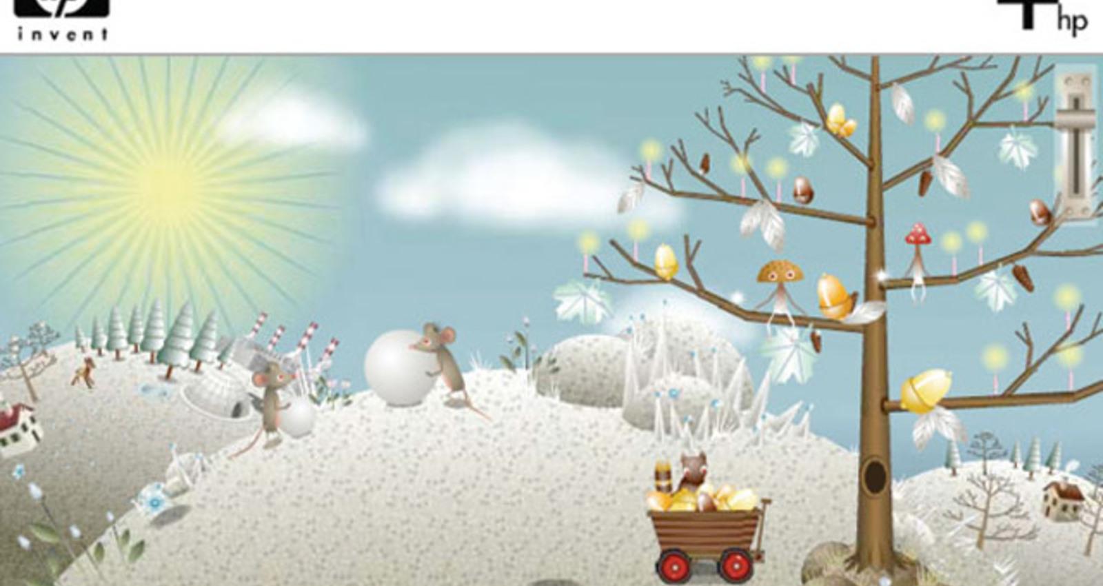 HP Festive Holiday Card