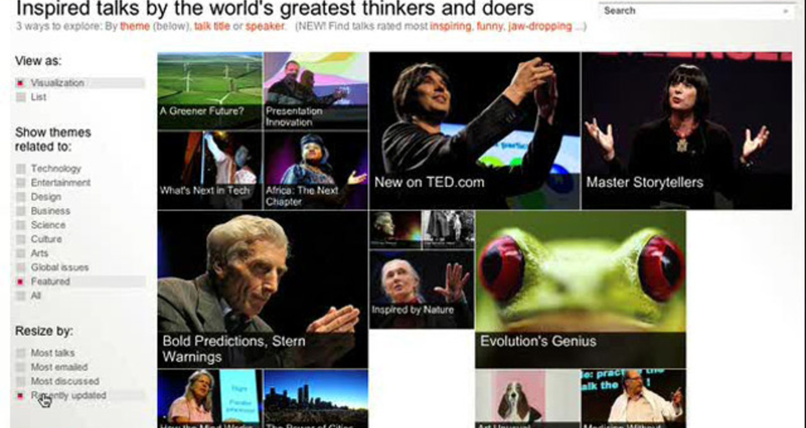 TED Conferences Web Site