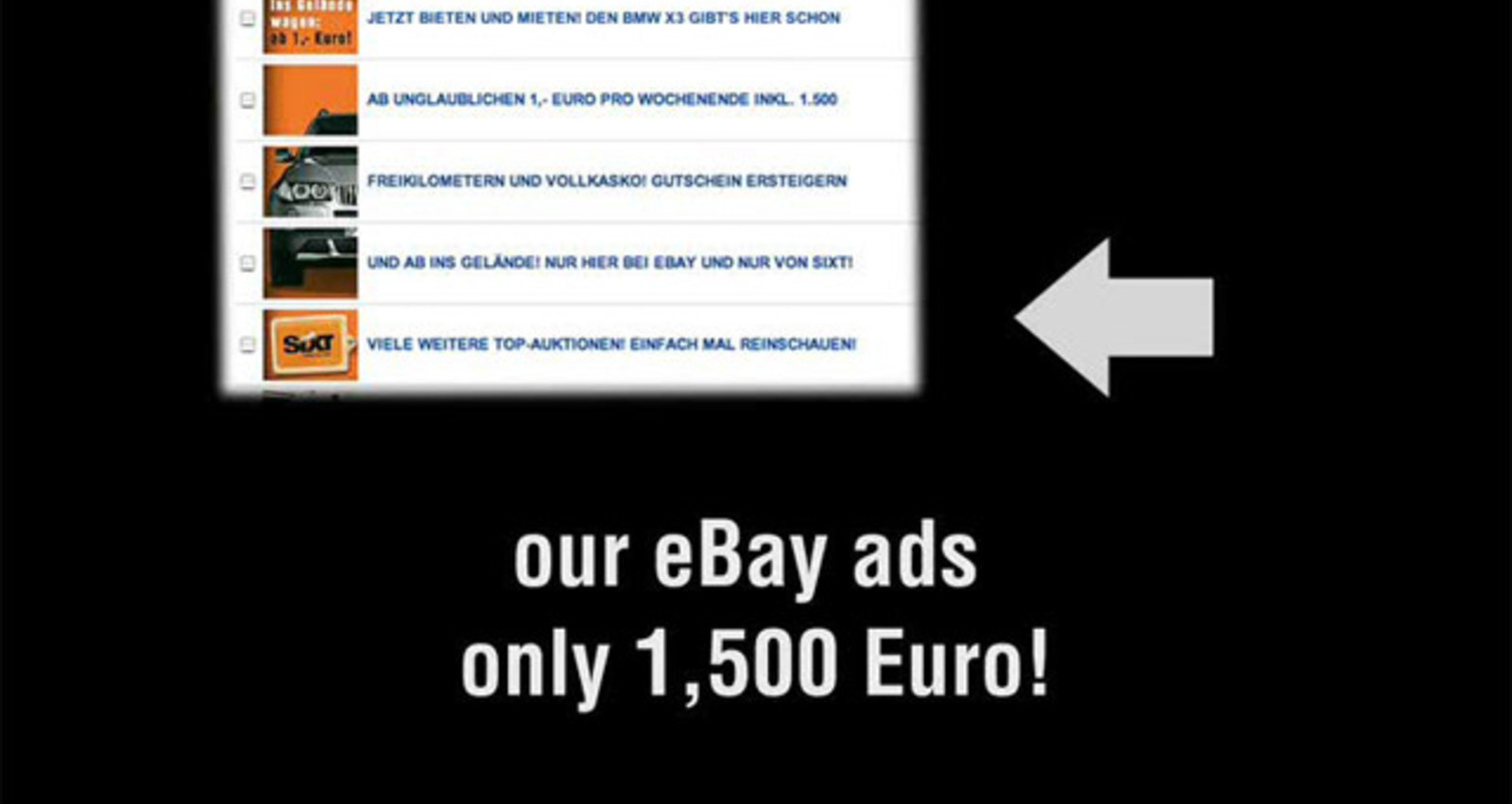 SIXT Ebay Ads