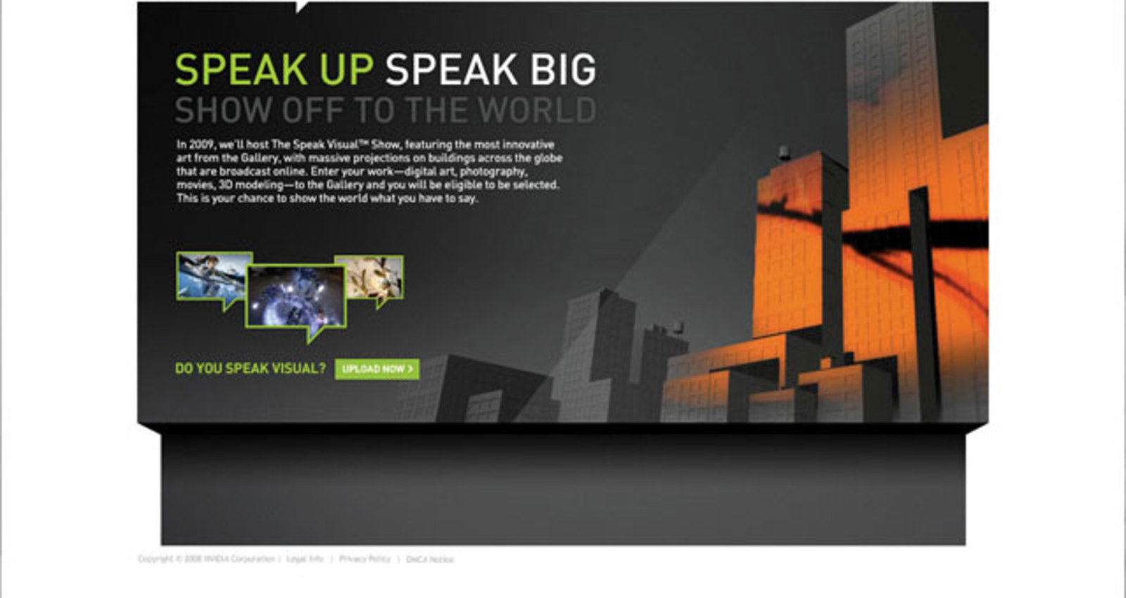 Nvidia Speak Visual site