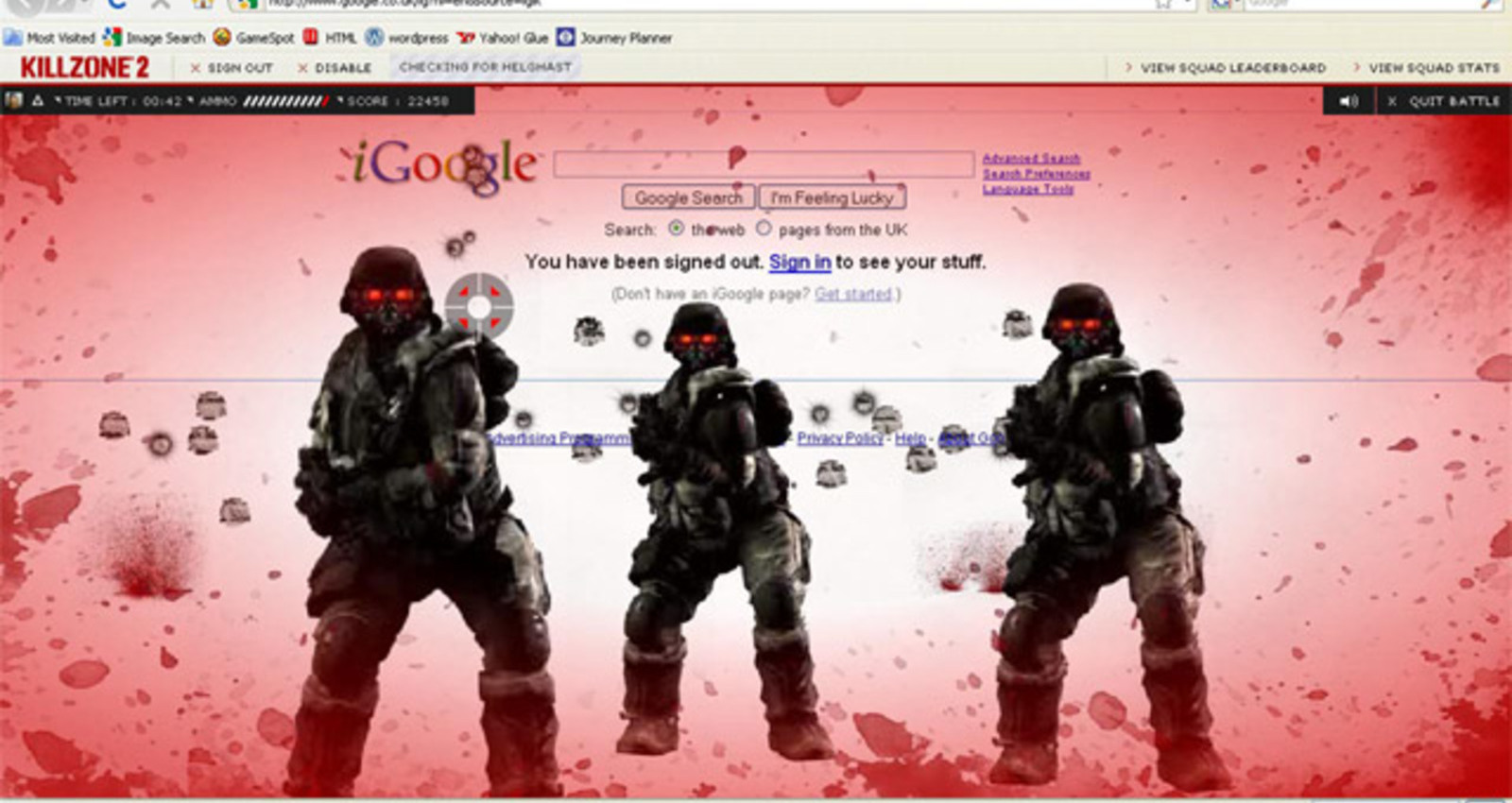 Killzone 2 Webgame