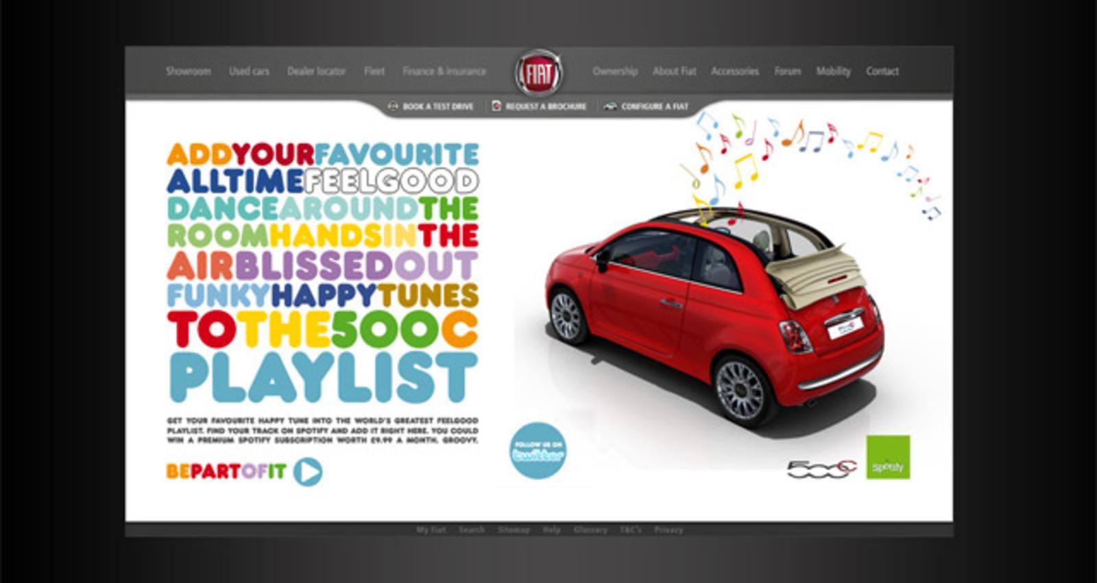 Fiat 500C Feelgood Playlist