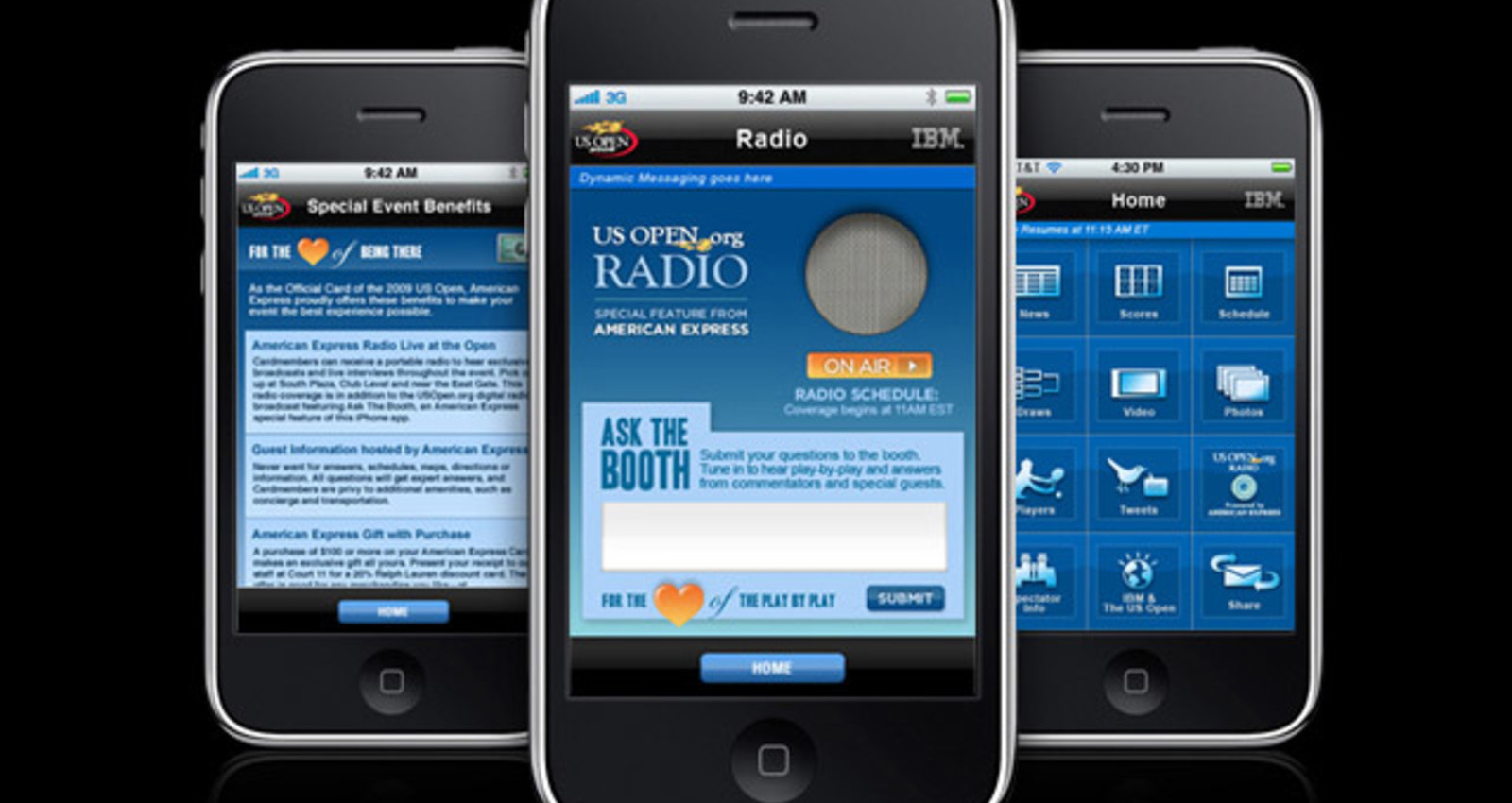 The Official 2009 US Open iPhone App