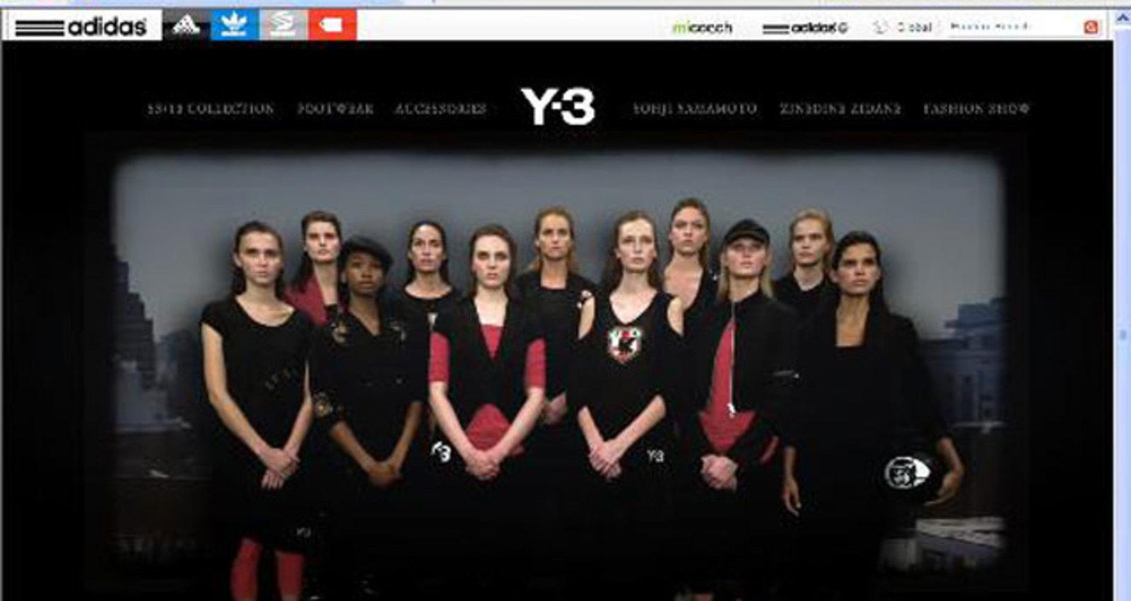 Y-3 Spring/Summer Website