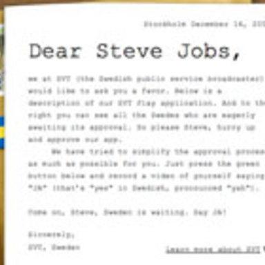 Dear Steve Jobs