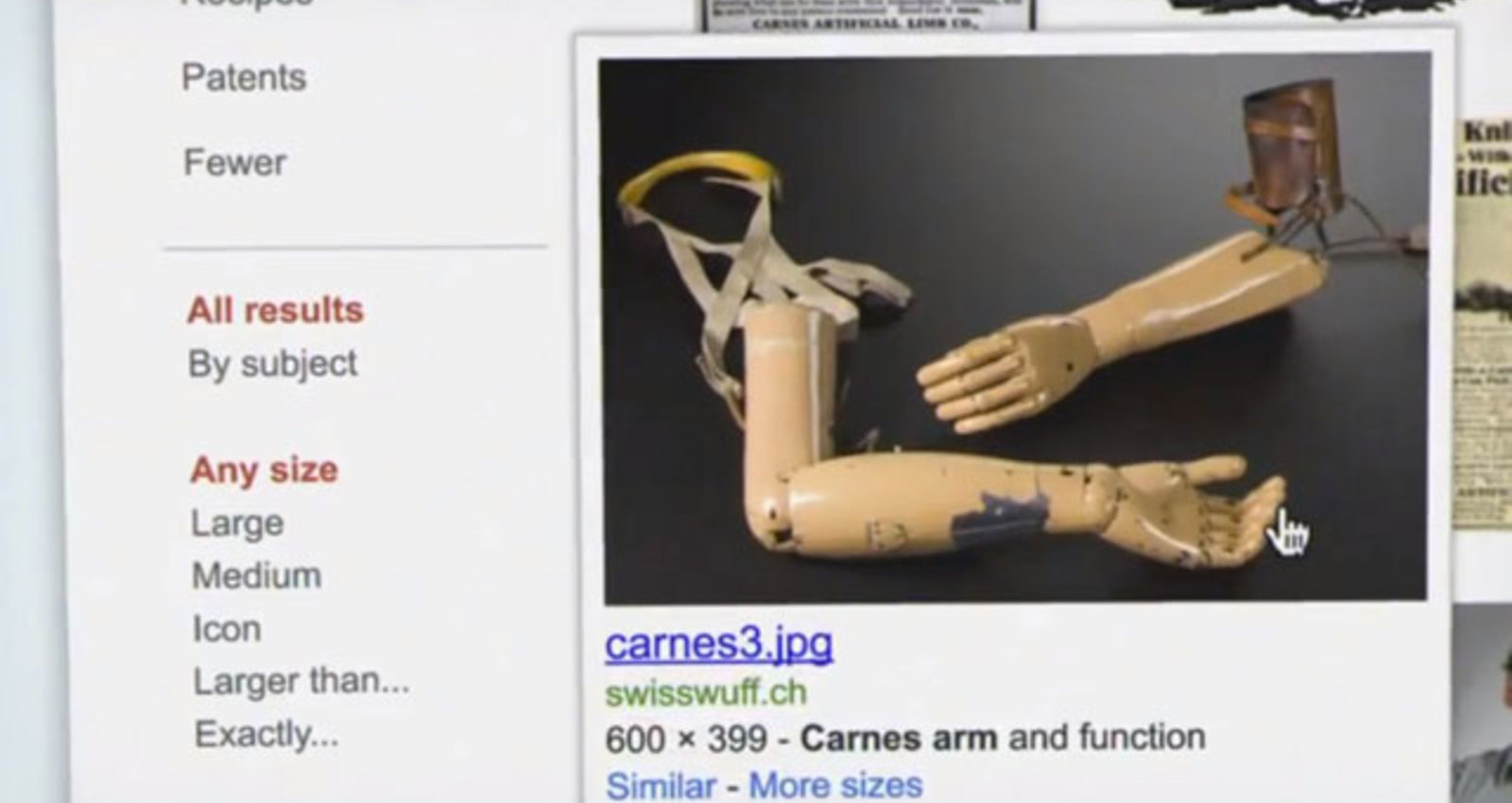 Search Stories: A New/Old Prosthetic