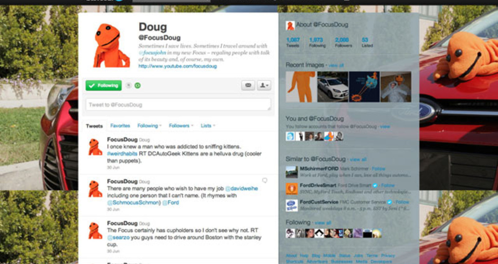 Doug, the Orange Spokespuppet